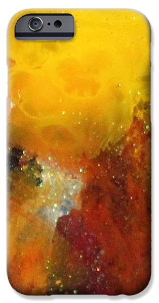 Flashy Paintings iPhone Cases - Samantha Grace iPhone Case by Kathleen Fowler