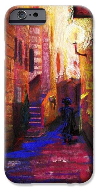 Night Lamp iPhone Cases - Shabbat Shalom iPhone Case by Talya Johnson