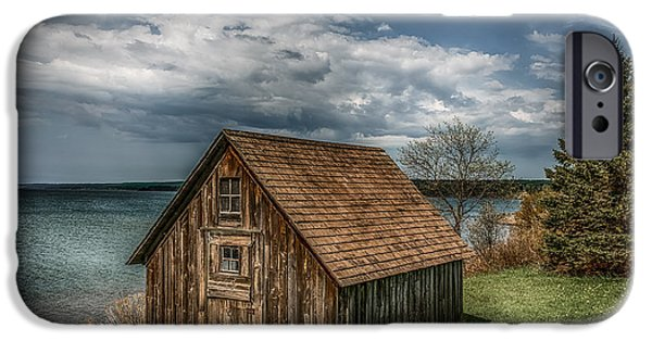 Old Barn iPhone Cases - Shack On Superior iPhone Case by Paul Freidlund