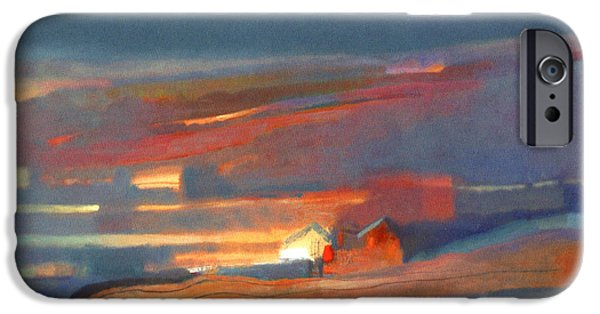 House iPhone Cases - Shacks Oil On Canvas iPhone Case by Charlie Baird