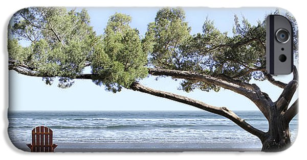 Sea iPhone Cases - Shade Tree Panoramic iPhone Case by Mike McGlothlen