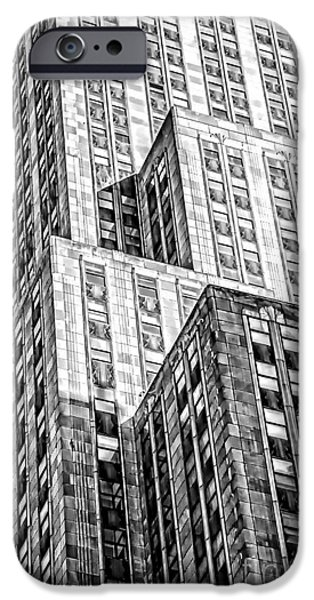 Empire State Building iPhone Cases - Shades of an Empire iPhone Case by Az Jackson