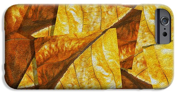 Virtual Digital iPhone Cases - Shades of Autumn iPhone Case by Jack Zulli