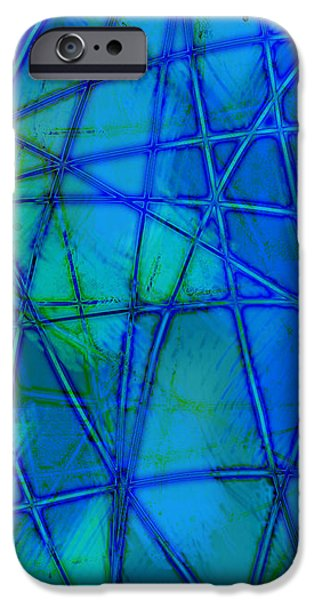 Shades of Blue   iPhone Case by Ann Powell