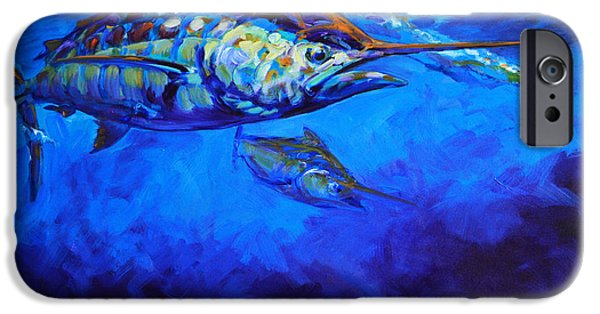 Marine iPhone Cases - Shades of Blue iPhone Case by Mike Savlen