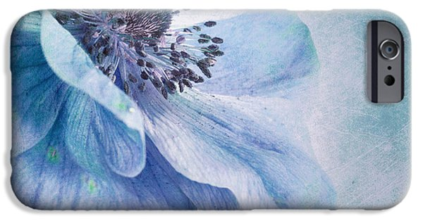 Fineart iPhone Cases - Shades Of Blue iPhone Case by Priska Wettstein
