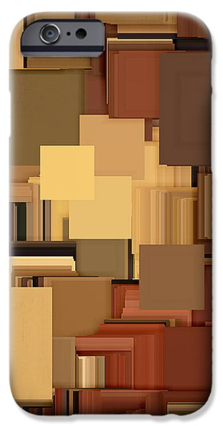 Shades Of Brown iPhone Case by Lourry Legarde