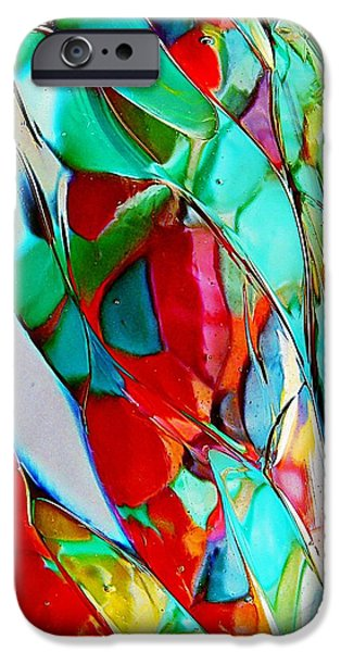Cyberspace iPhone Cases - Shades Of Excitement iPhone Case by Marcia Lee Jones