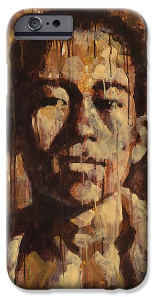 Drips Paintings iPhone Cases - Shades of Khanh iPhone Case by Douglas Simonson