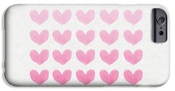 Heart iPhone Cases - Shades of Pink iPhone Case by Aged Pixel