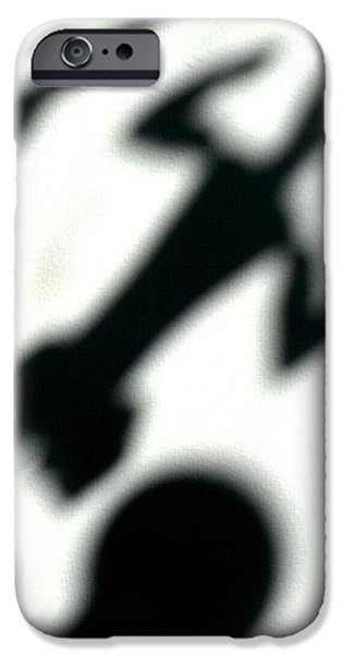 Abstract Collage Drawings iPhone Cases - Shadow art iPhone Case by Godfrey McDonnell