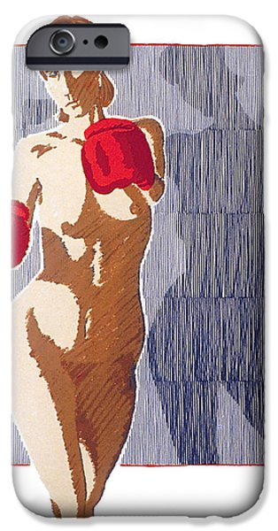shadow boxer - 1 iPhone Case by Robert G Mears
