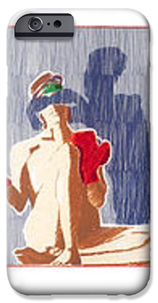 shadow boxer - full iPhone Case by Robert G Mears