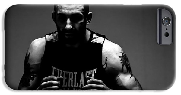 Boxer Digital iPhone Cases - Shadow Boxer iPhone Case by   Waite