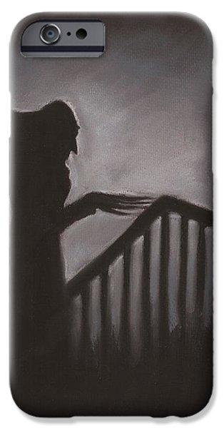 Creepy Pastels iPhone Cases - Shadow iPhone Case by Nina Shilling