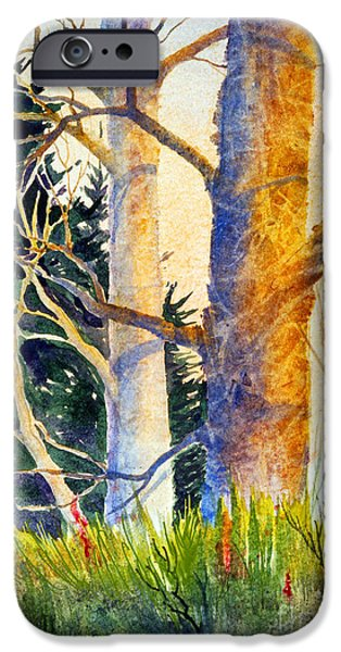 Raw Sienna iPhone Cases - Shadow Patterns II iPhone Case by Teresa Ascone