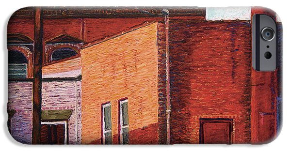 Industrial Pastels iPhone Cases - Shadows in Dover iPhone Case by David Derr