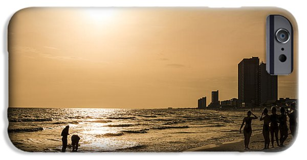 Panama City Beach Photographs iPhone Cases - Shadows of the Beach iPhone Case by David Morefield