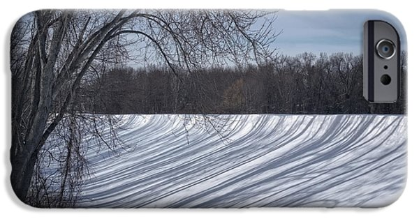 Snow Drifts Photographs iPhone Cases - Shadows  iPhone Case by HD Connelly