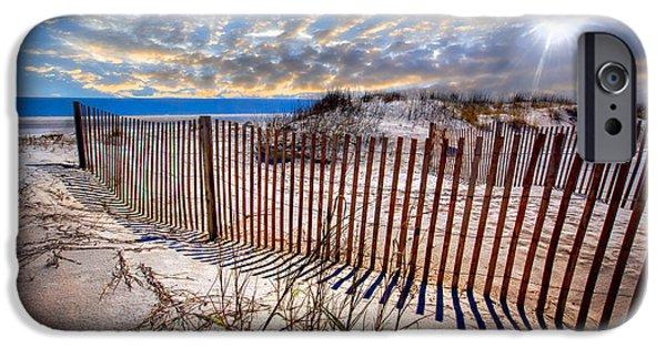 Sanddunes iPhone Cases - Shadows on the Dunes iPhone Case by Debra and Dave Vanderlaan