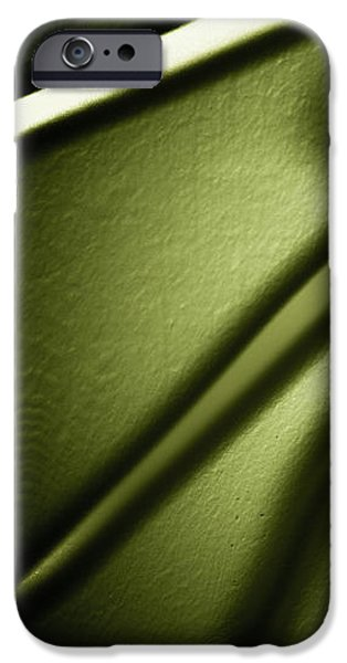 Emerald Green Abstract iPhone Cases - Shadows on Wall iPhone Case by Darryl Dalton