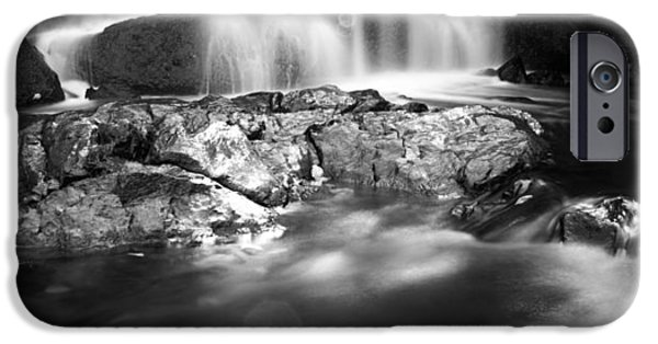 Snowy Brook iPhone Cases - Shadowy Falls iPhone Case by Shelby  Young