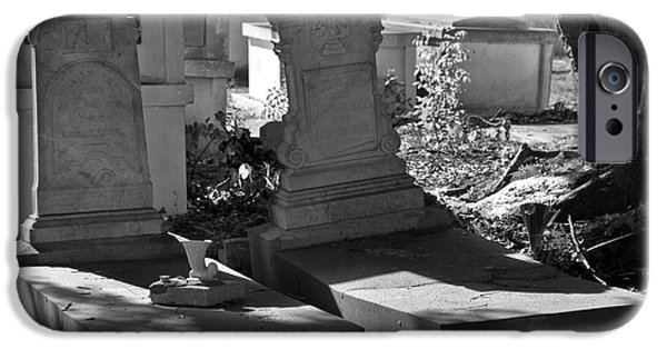 Cemetary iPhone Cases - Shady Rest iPhone Case by Rick Bravo
