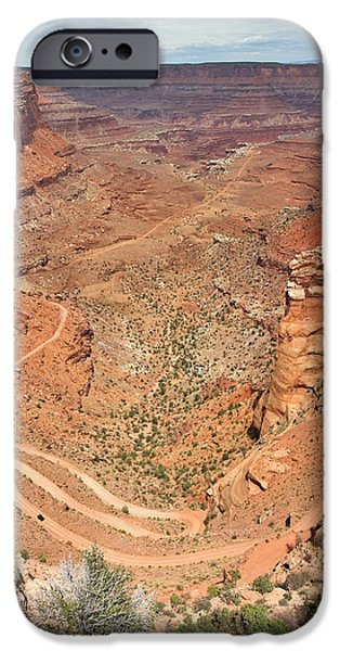 Moab iPhone Cases - Shafer Trail iPhone Case by Adam Romanowicz