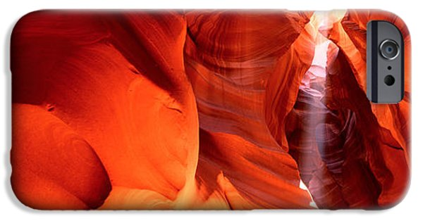 Red Rock iPhone Cases - Shaft Of Sunlight In A Canyon, Antelope iPhone Case by Panoramic Images
