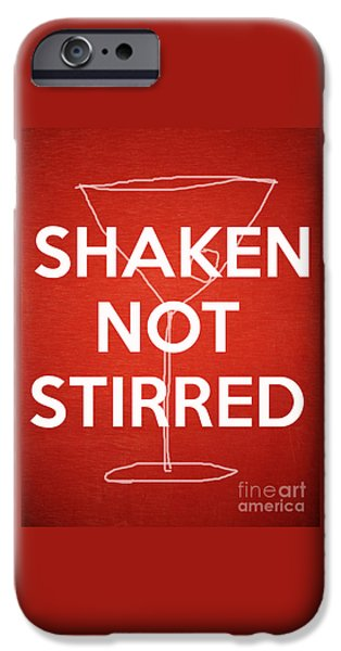 Stir iPhone Cases - Shaken Not Stirred iPhone Case by Edward Fielding