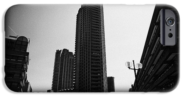 Brutalist iPhone Cases - Shakespeare Tower And Defoe House In The Barbican Residential Estate London England Uk iPhone Case by Joe Fox