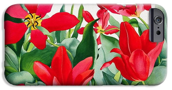 Tulips iPhone Cases - Shakespeare Tulips iPhone Case by Christopher Ryland