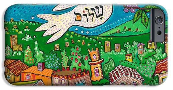 Recently Sold -  - Buildings iPhone Cases - Shalom from Tzfat iPhone Case by Yom Tov