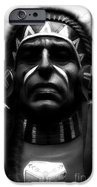 Abnormal iPhone Cases - Shaman in Black and White iPhone Case by Newel Hunter