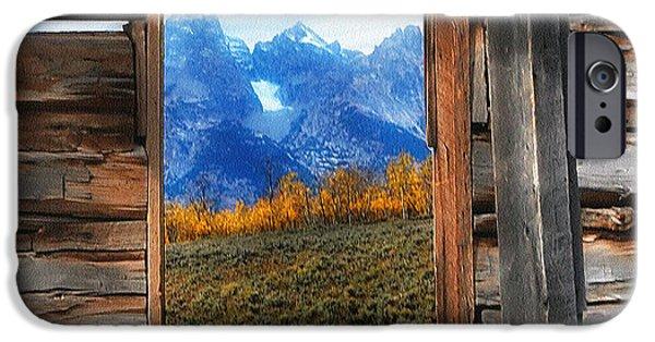 Cabin Window iPhone Cases - Shane Cabin Window  iPhone Case by Clare VanderVeen