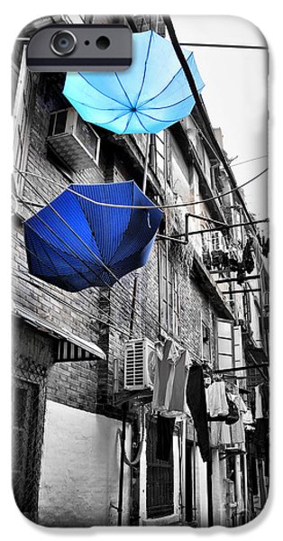 Rainy Day iPhone Cases - Shanghai after the rain iPhone Case by Delphimages Photo Creations