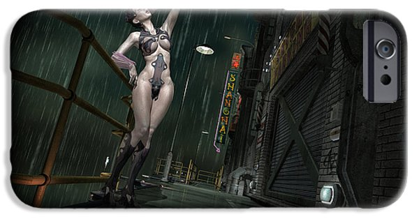 Model iPhone Cases - Shanghai Cyborg iPhone Case by Todd and candice Dailey