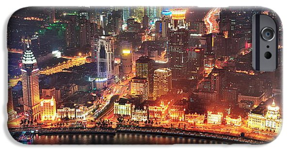 River View iPhone Cases - Shanghai iPhone Case by Songquan Deng