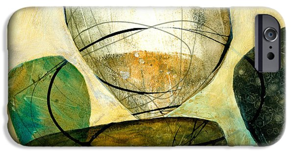 Shapes Paintings iPhone Cases - Shape 21 iPhone Case by Jane Davies