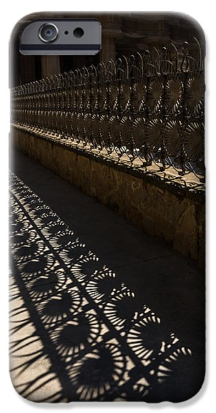 Shape iPhone Cases - Shapes and Shadows - Antoni Gaudi - Park Guell - Barcelona iPhone Case by Georgia Mizuleva