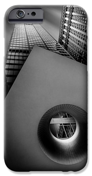 Manhattan iPhone Cases - Shaping The Skyline iPhone Case by Az Jackson