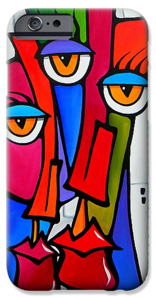Contemporary Abstract Drawings iPhone Cases - Shared by Fidostudio iPhone Case by Tom Fedro - Fidostudio