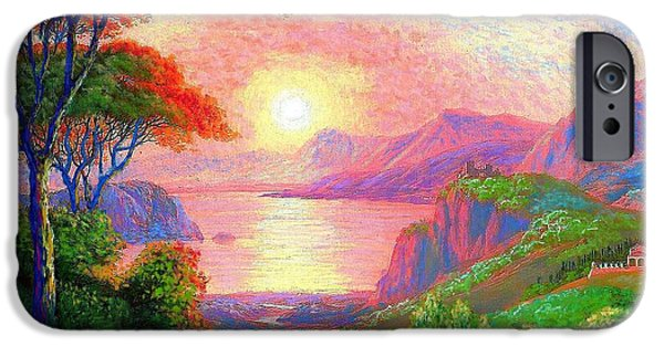 Sunset Paintings iPhone Cases - Sharing the Journey iPhone Case by Jane Small