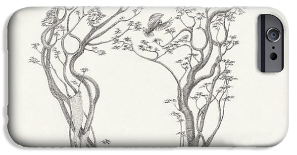 Pleasure Drawings iPhone Cases - Sharing the Music iPhone Case by Mark Johnson