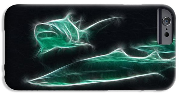 Artistic Fish Abstraction iPhone Cases - Shark-09442-Fractal iPhone Case by Gary Gingrich Galleries