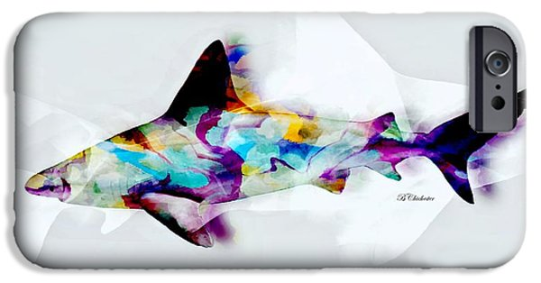 Marine iPhone Cases - Shark Art II iPhone Case by Barbara Chichester