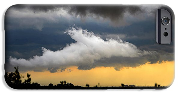 Shark iPhone Cases - Shark cloud iPhone Case by David Lee Thompson