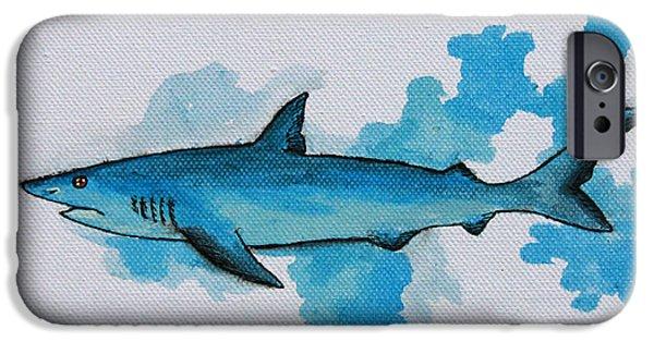 Shark iPhone Cases - Shark Study iPhone Case by Kayleigh Semeniuk