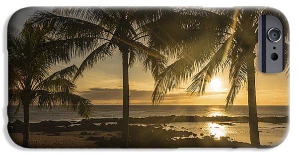 Tidal Photographs iPhone Cases - Sharks Cove Sunset 2 - Oahu Hawaii iPhone Case by Brian Harig