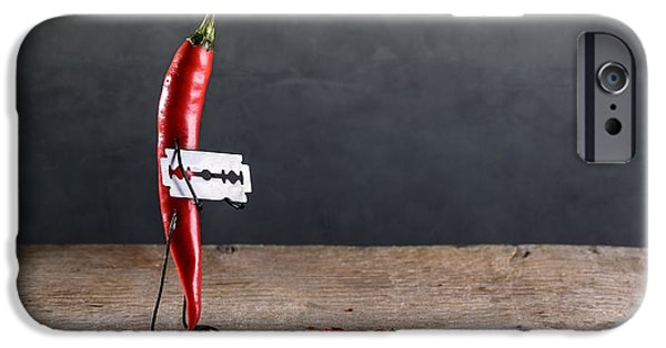 Fiery iPhone Cases - Sharp Chili iPhone Case by Nailia Schwarz
